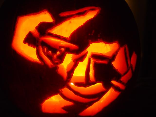 Pumpkin carving at celebration night